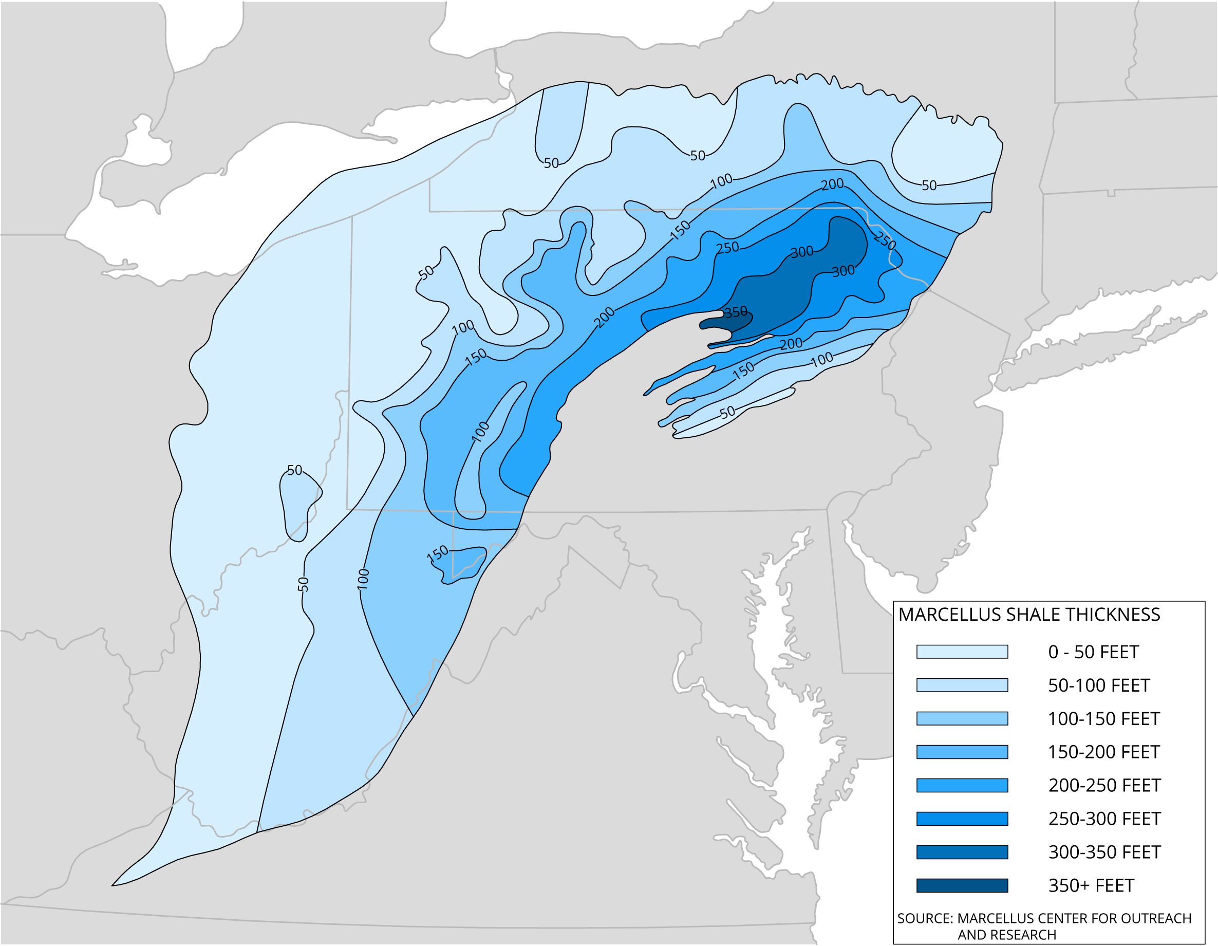 Marcellus Shale Thickness