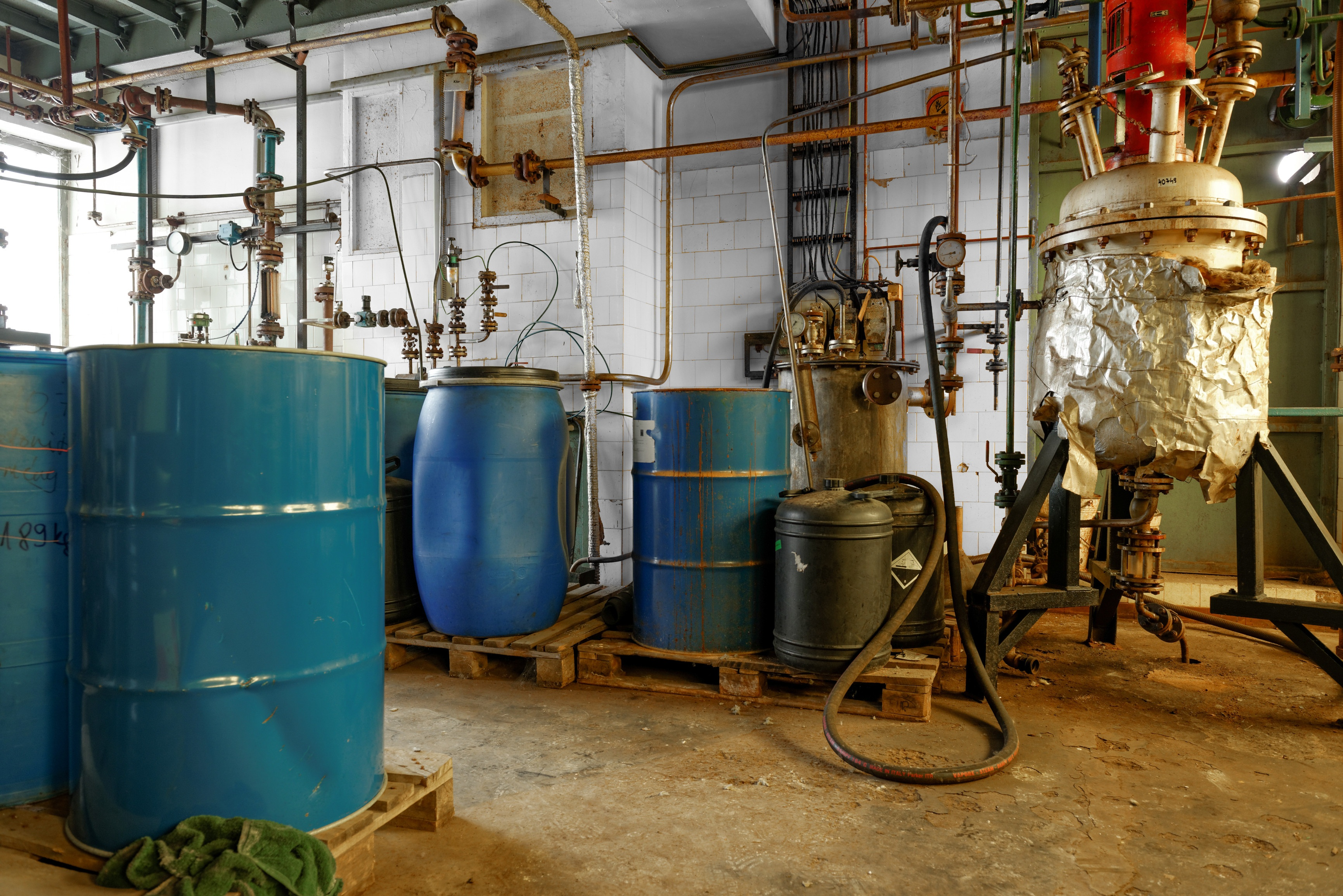 chemical waste dump